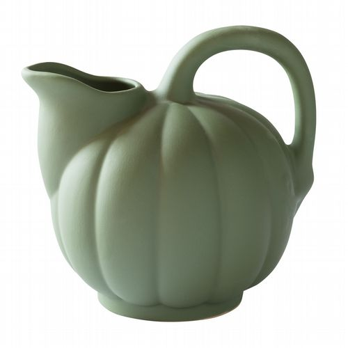 French Stoneware - Melon Pitcher - Olive Green